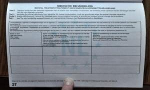 Medische behandeling vel paspoort foto